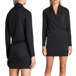 Allsaints Aisha Gray Long Sleeve Dress Size XS